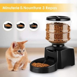 Distributeur nourriture chat croquette